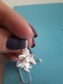 Серьги цветы с жечугом