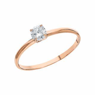 Золотое кольцо с фианитами РУСГОЛДАРТ 1252007 1 1 10: красное и розовое золото 585 пробы, фианит — купить в интернет-магазине SUNLIGHT, фото, артикул 162730