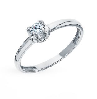 Золотое кольцо SUNLIGHT «Бриллианты Якутии»: белое золото 585 пробы, бриллиант — купить в интернет-магазине SUNLIGHT, фото, артикул 48271
