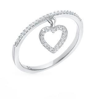 Серебряное кольцо с фианитами SUNLIGHT: белое серебро 925 пробы, фианит — купить в интернет-магазине Санлайт, фото, артикул 68323