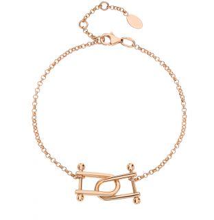 Золотой браслет JASMİNE JEWELLERY: красное и розовое золото 585 пробы — купить в интернет-магазине SUNLIGHT, фото, артикул 92571