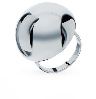 Металлическое кольцо SUNLIGHT: белый металл — купить в интернет-магазине Санлайт, фото, артикул 98467