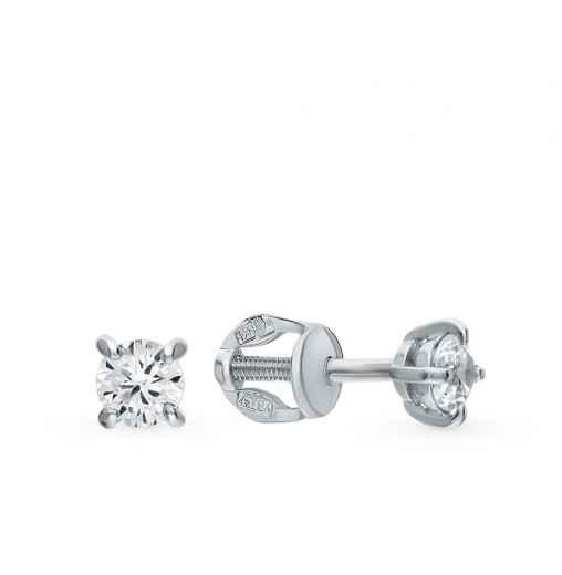 5246bd30b09953 Серебряные серьги с камнями — купить недорого в интернет-магазине SUNLIGHT  в Москве, выбрать сережки из серебра с камнями в каталоге с фото и ценами