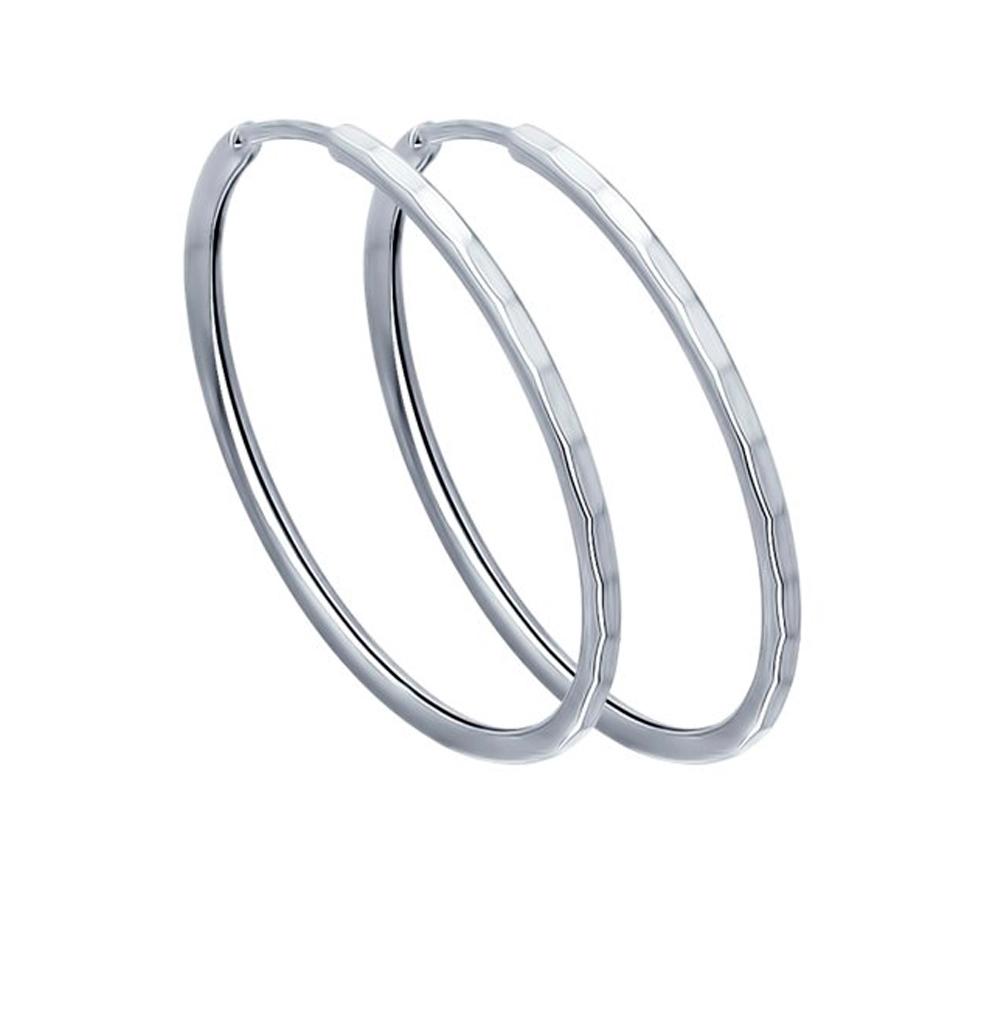 серебряные серьги SOKOLOV 94140074