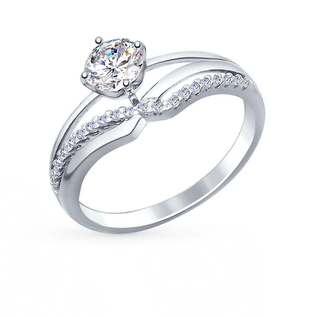 серебряное кольцо с фианитами SOKOLOV 94012241