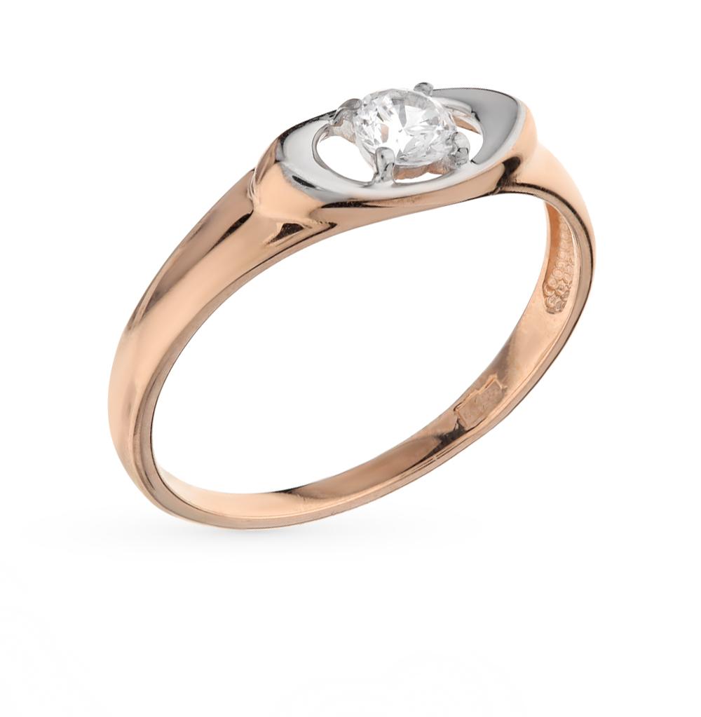 Фото «Золотое кольцо с фианитами SOKOLOV 017133*»
