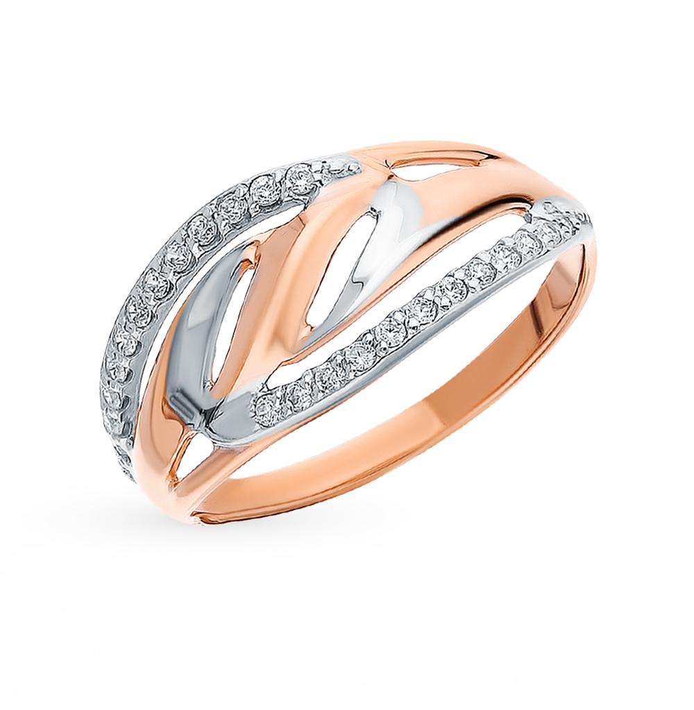 золотое кольцо с фианитами SOKOLOV 018125*