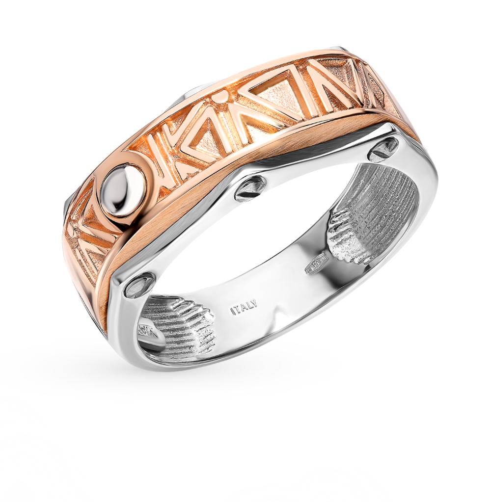 золотое кольцо со сталью