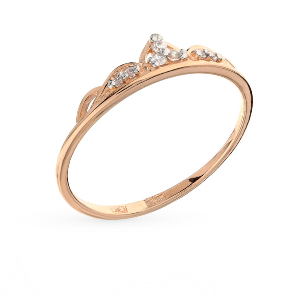 золотое кольцо с фианитами SOKOLOV 017167*