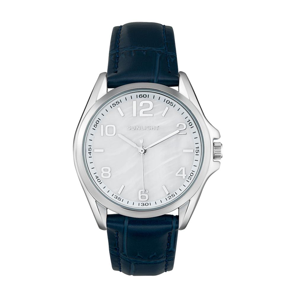Фото «Женские часы с перламутром на кожаном ремне»