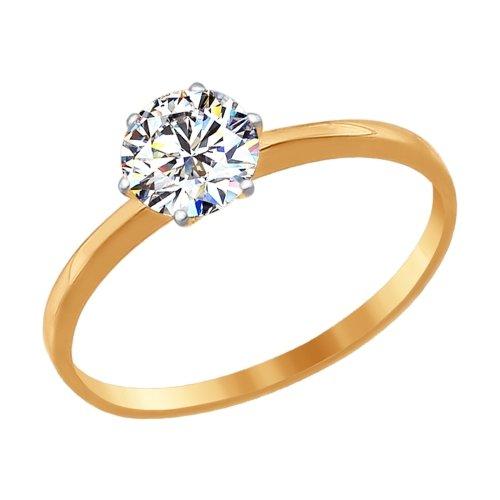 Золотое кольцо с фианитами SOKOLOV 016788* в Санкт-Петербурге