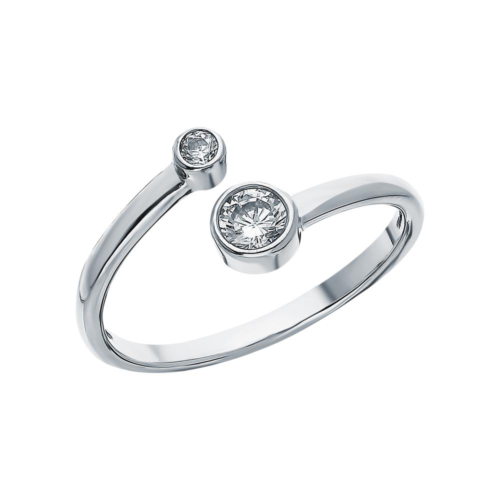 Фото «Серебряное кольцо с фианитами SOKOLOV 94011463»