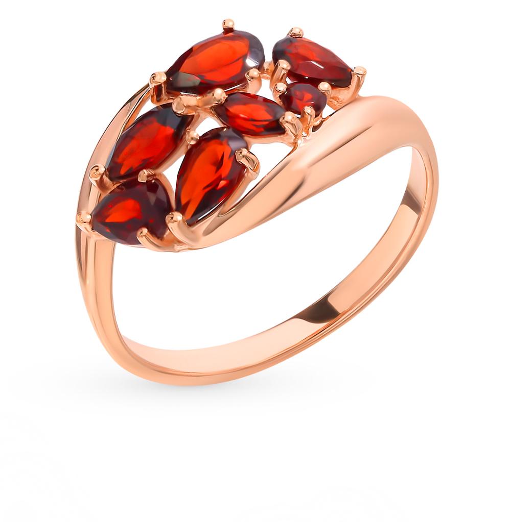 золотое кольцо с гранатом SOKOLOV 714830*