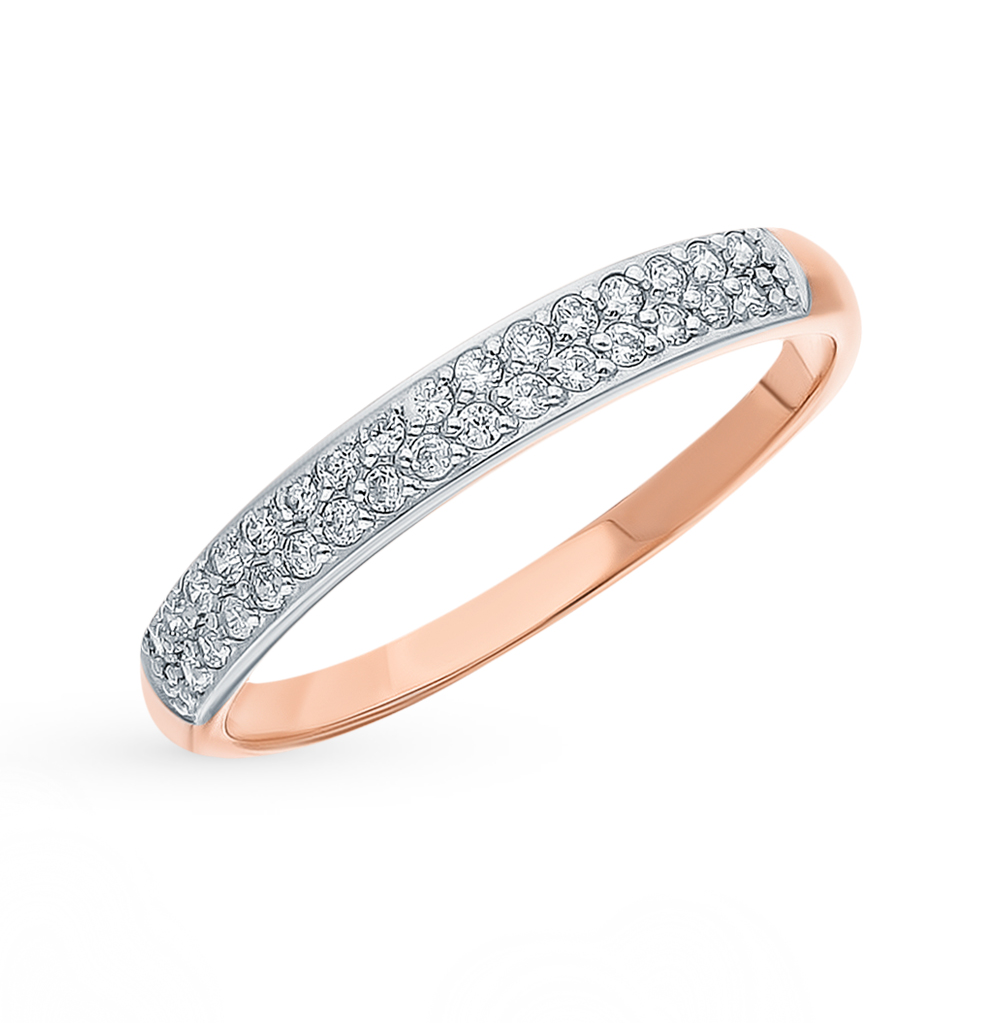 Фото «Золотое кольцо с фианитами SOKOLOV 018353»
