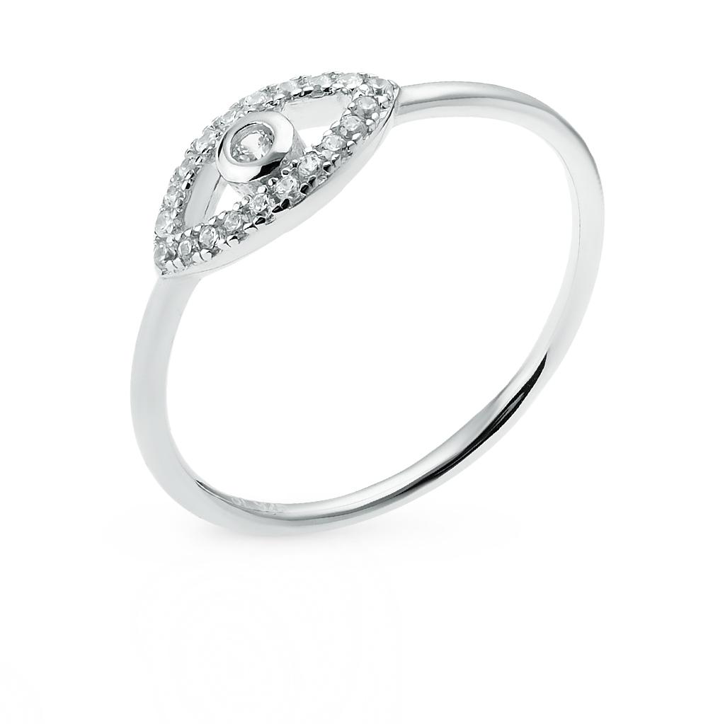 Фото «Серебряное кольцо с фианитами S3864-K9W-01»