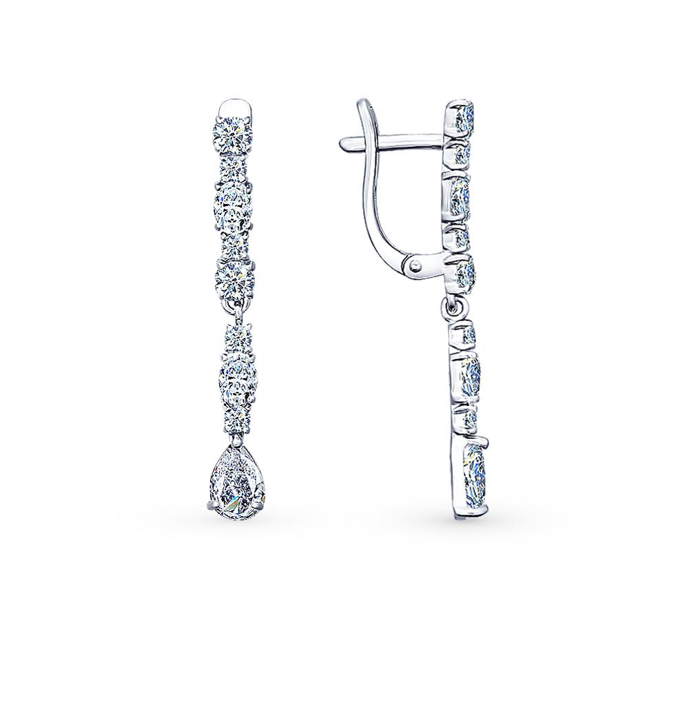 серебряные серьги с фианитами SOKOLOV 94021709