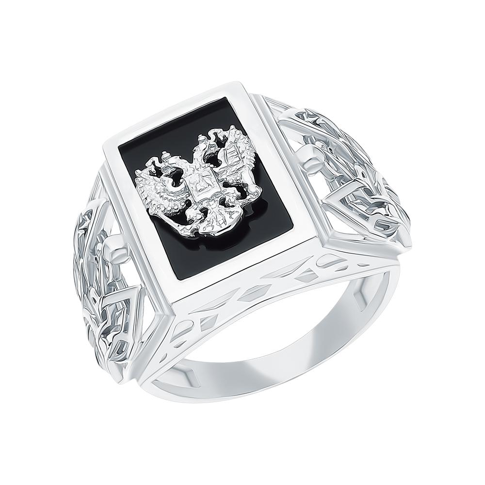 Серебряное кольцо с ониксом в Екатеринбурге