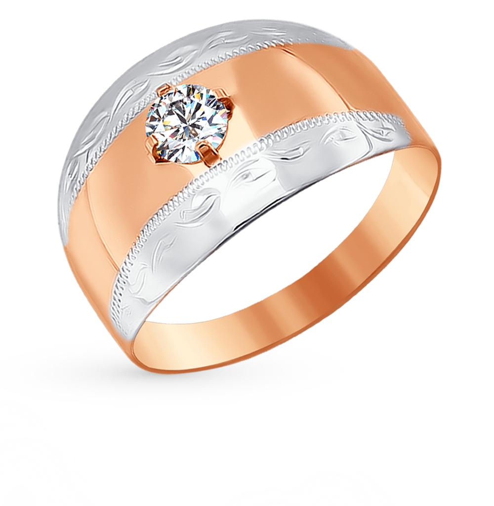 золотое кольцо с фианитами SOKOLOV 016692*