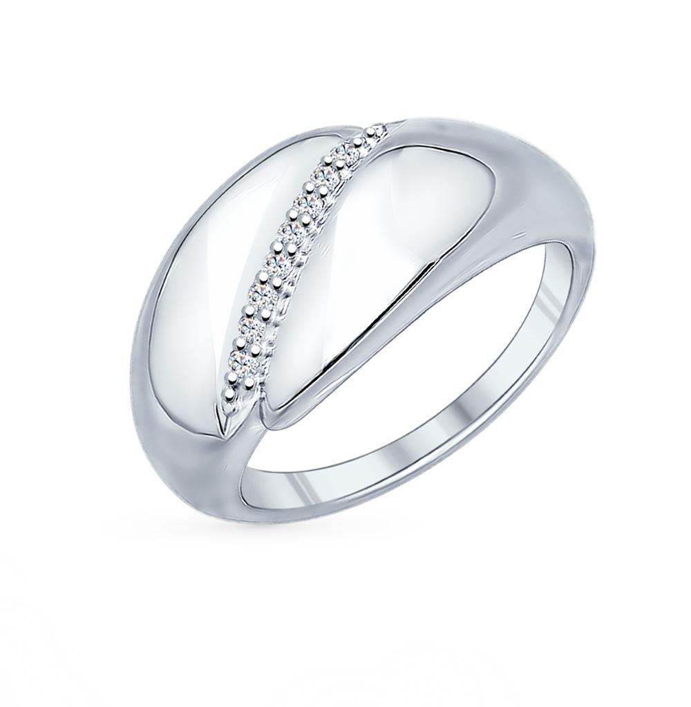 Фото «Серебряное кольцо с фианитами SOKOLOV 94011844»
