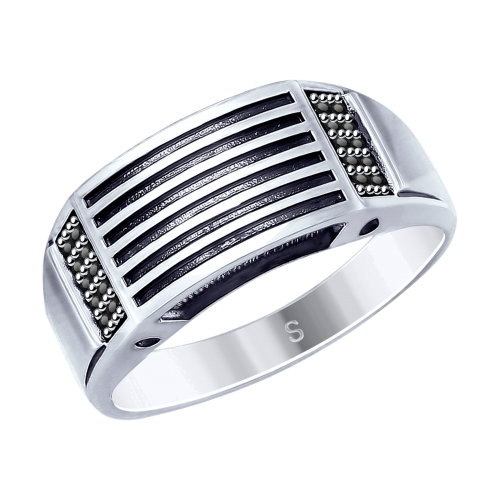 Фото «Серебряное кольцо с фианитами SOKOLOV 95010122»