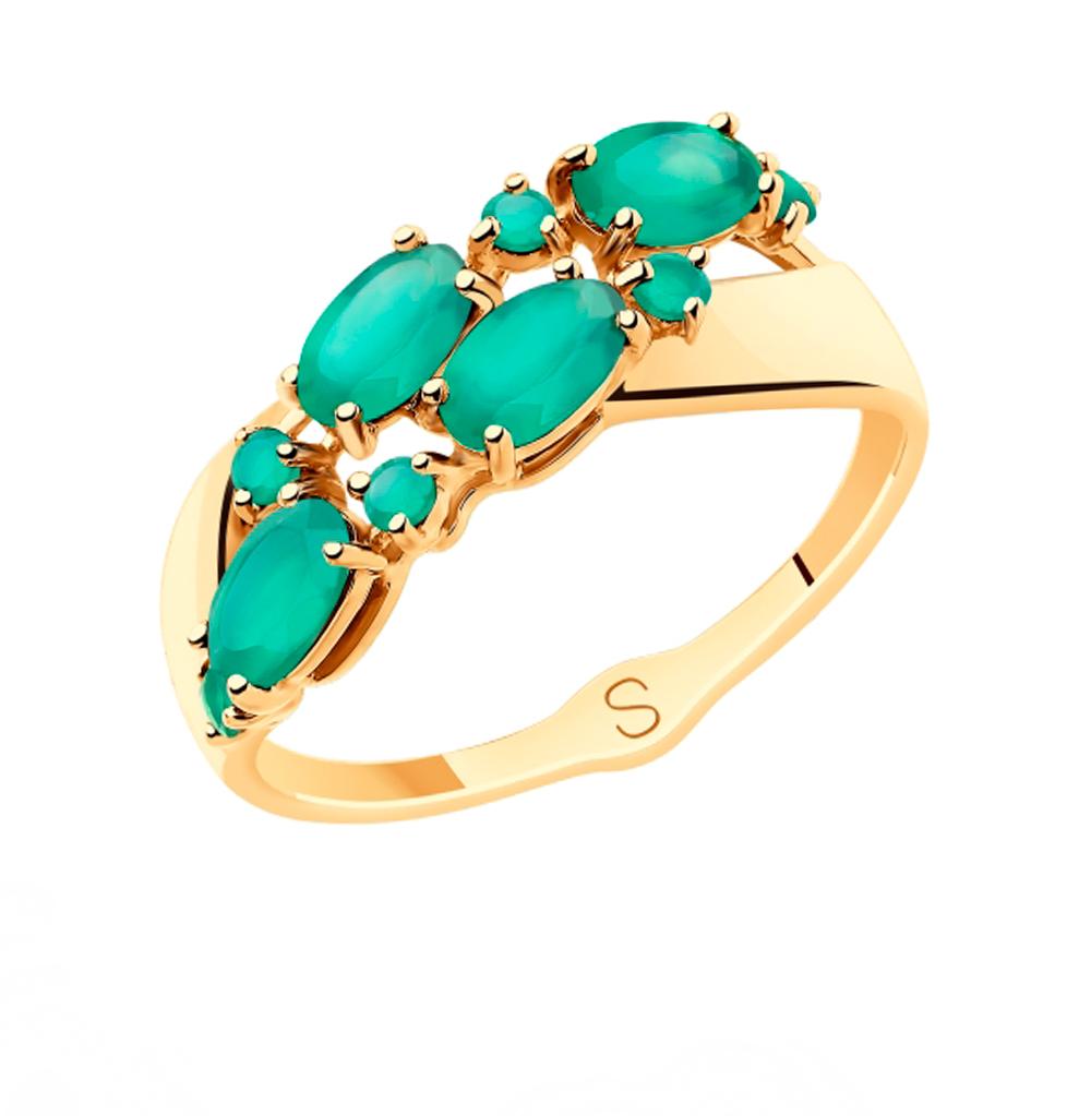 золотое кольцо с агатом SOKOLOV 715504*