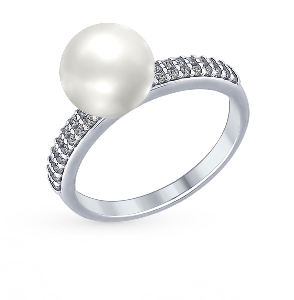 серебряное кольцо с кубическими циркониями SOKOLOV 94012337