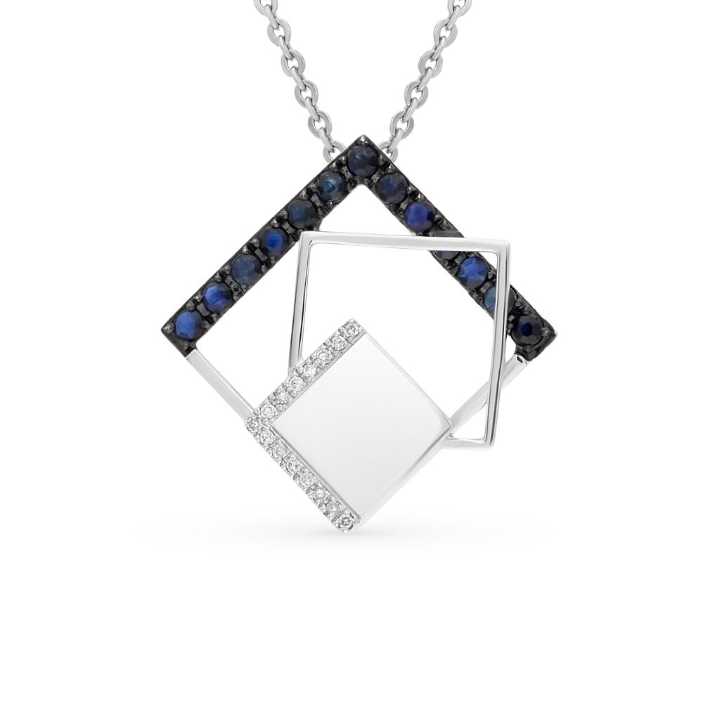 Фото «золото подвеска с сапфирами и бриллиантами»