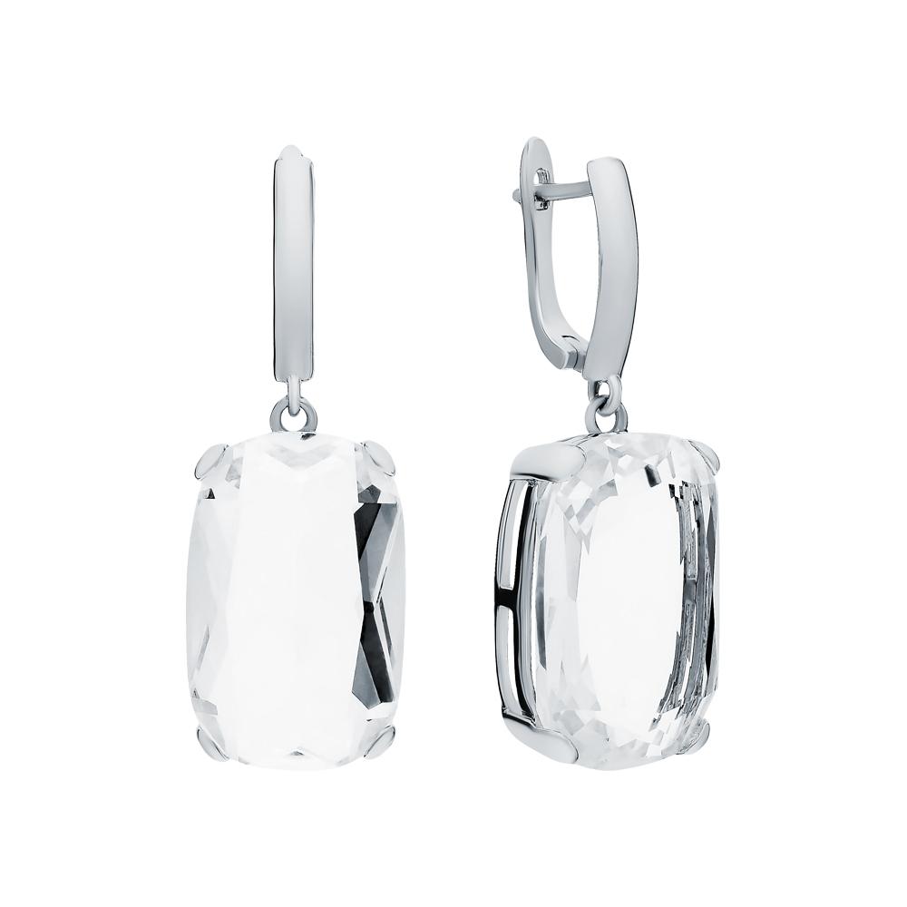 Фото «Серебряные серьги с ситаллами»