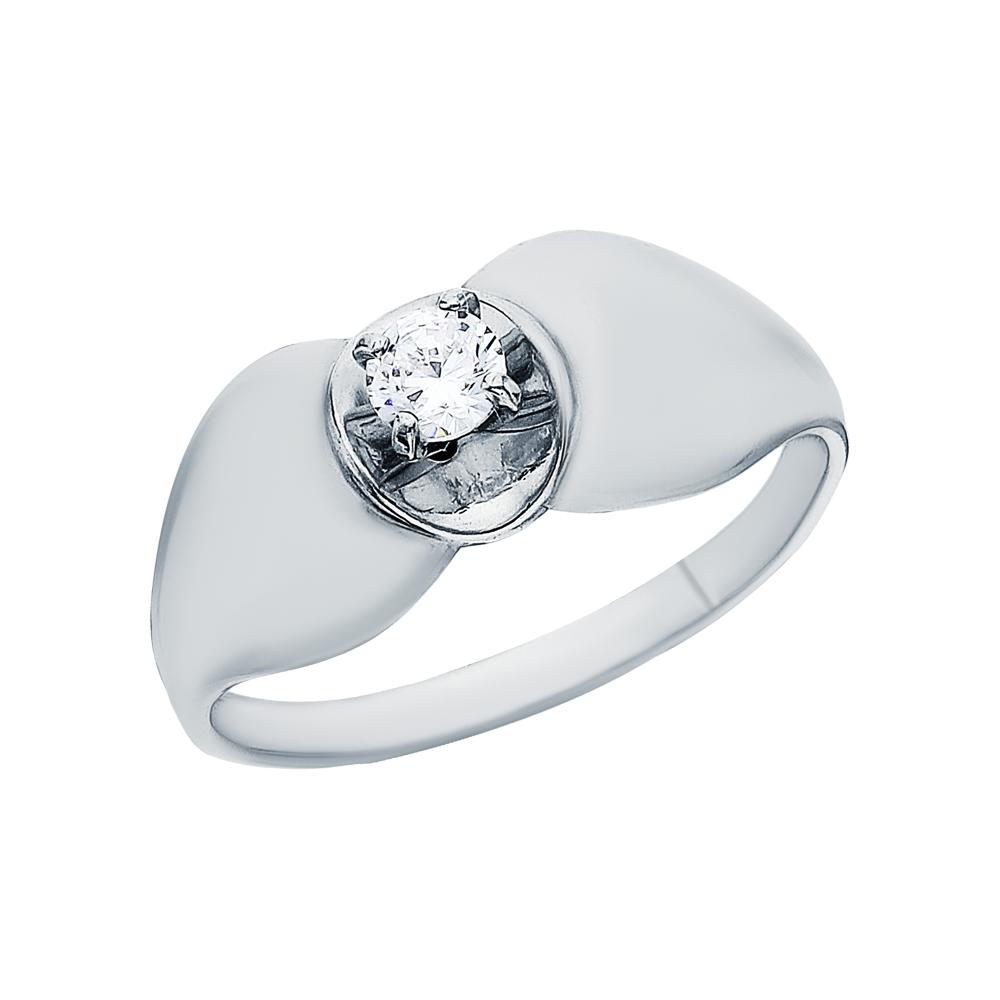 Фото «Серебряное кольцо с кубическим цирконием»