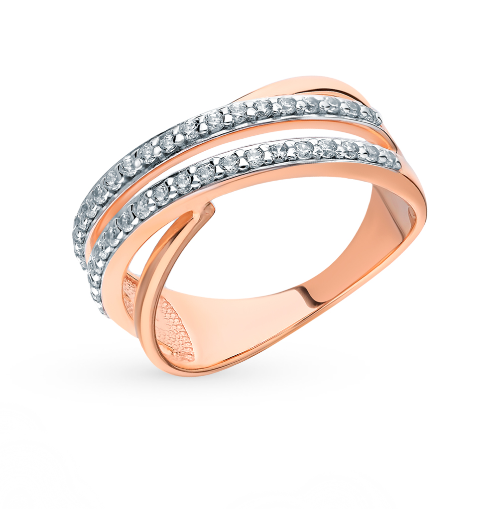 Фото «Серебряное кольцо с фианитами SOKOLOV 93010577»