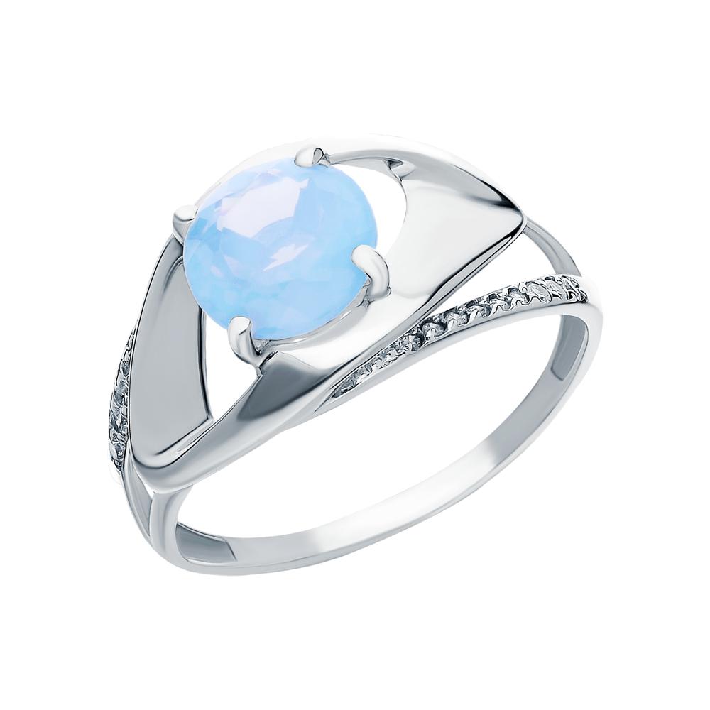 Серебряное кольцо с фианитами и лунными камнями в Санкт-Петербурге