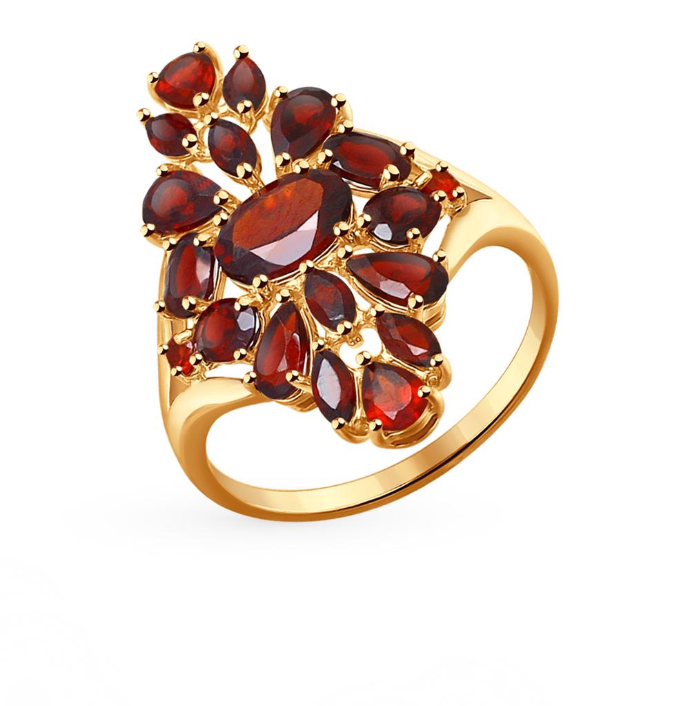 золотое кольцо с гранатом SOKOLOV 714264*