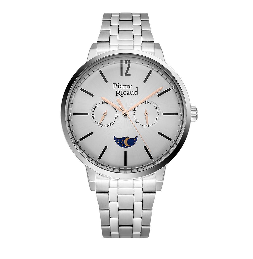 Фото «Мужские кварцевые часы P97246.51R7QF на стальном браслете с минеральным стеклом»