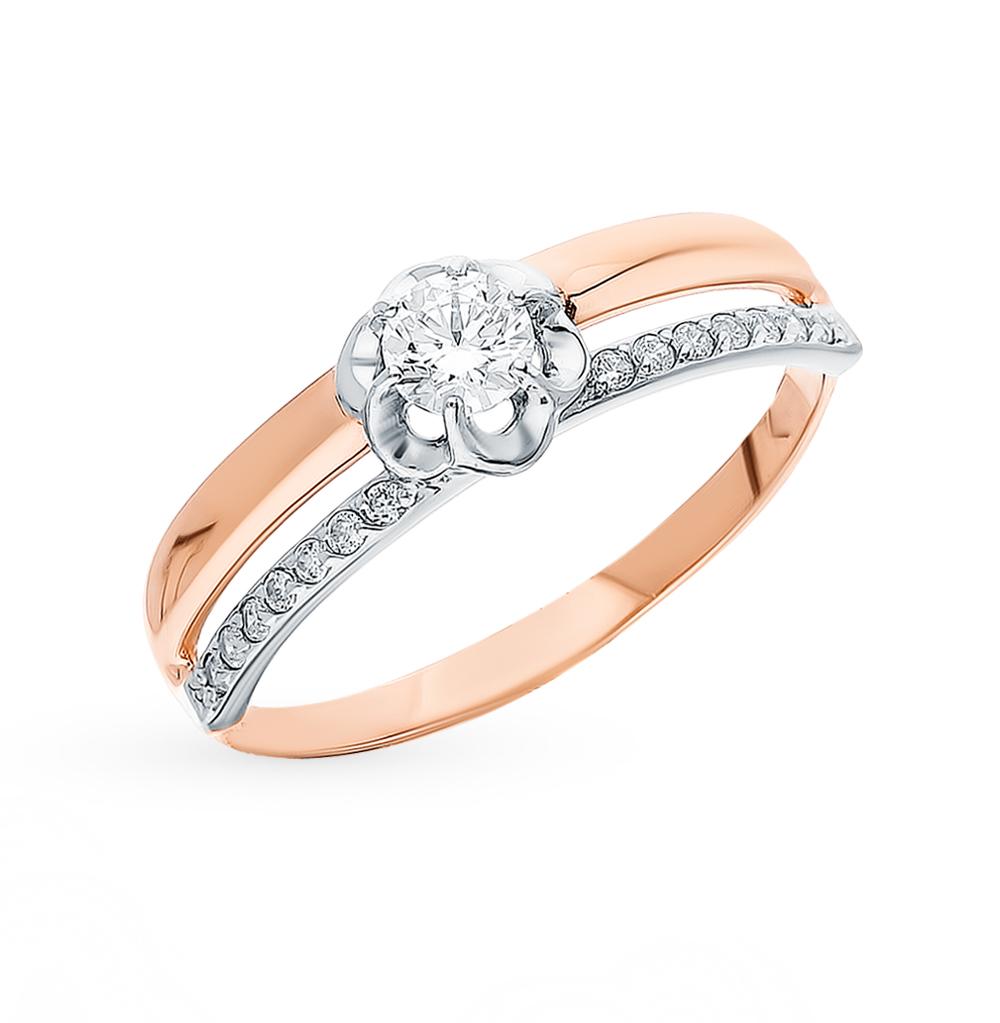 золотое кольцо с фианитами SOKOLOV 018171*
