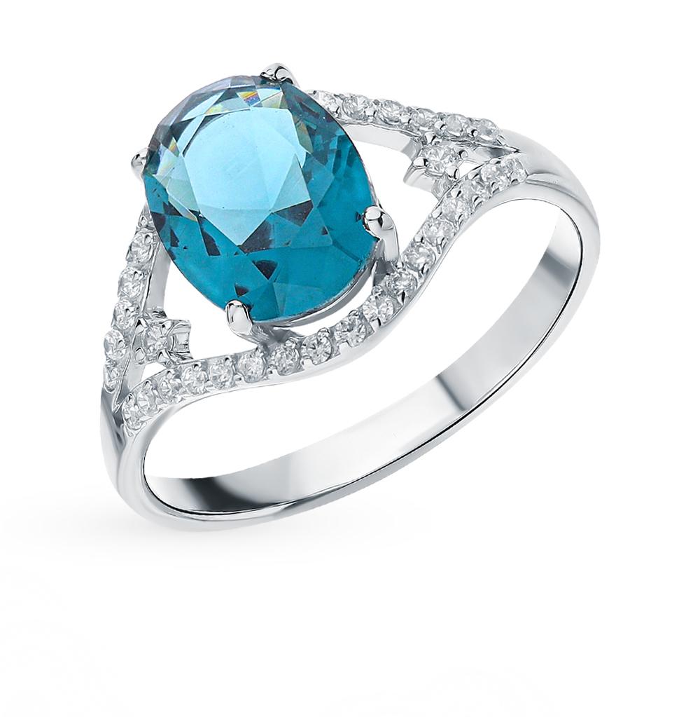 Фото «Серебряное кольцо с кристаллами и фианитами»