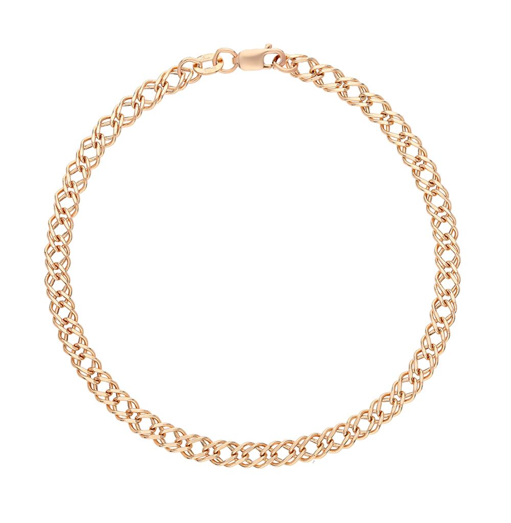 Золотой браслет КРАСЦВЕТМЕТ НБ 12-076ПГ 0,50   красное и розовое ... 8b023caf725