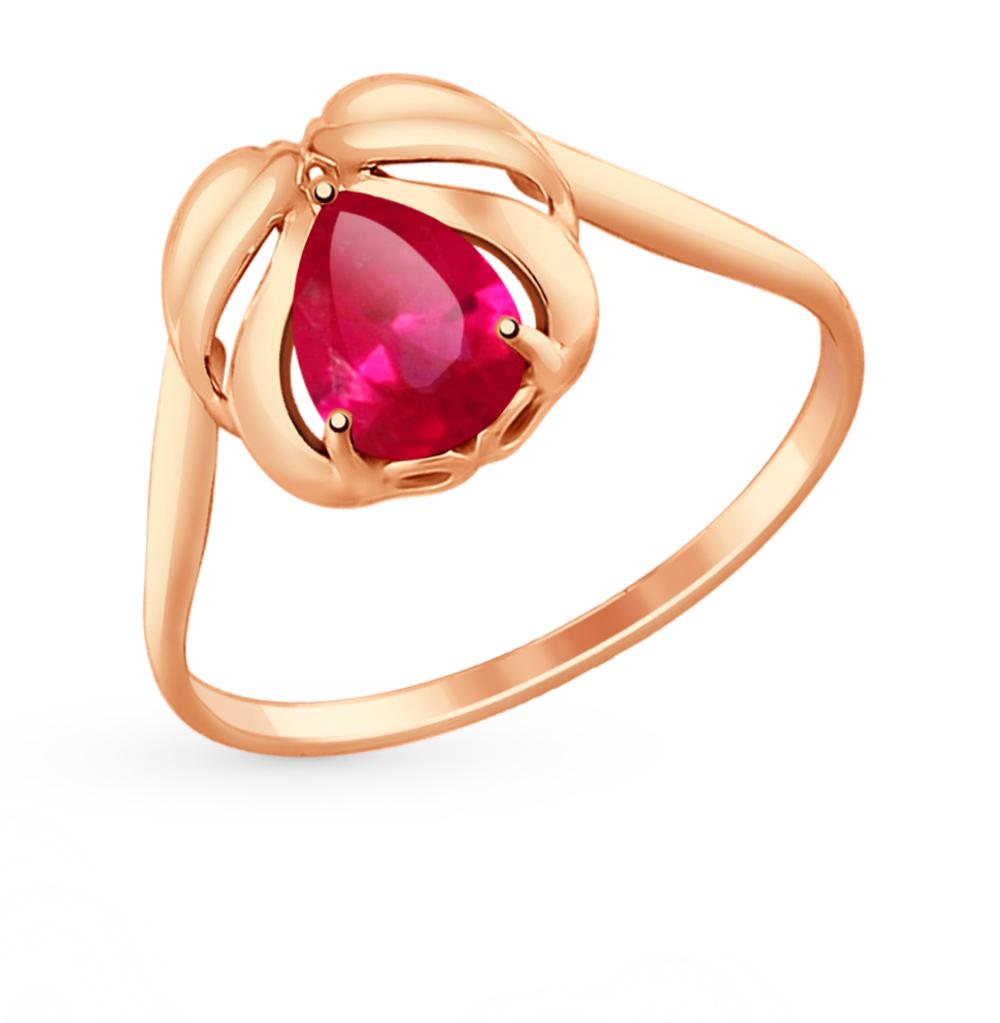 золотое кольцо с корундом SOKOLOV 714707*