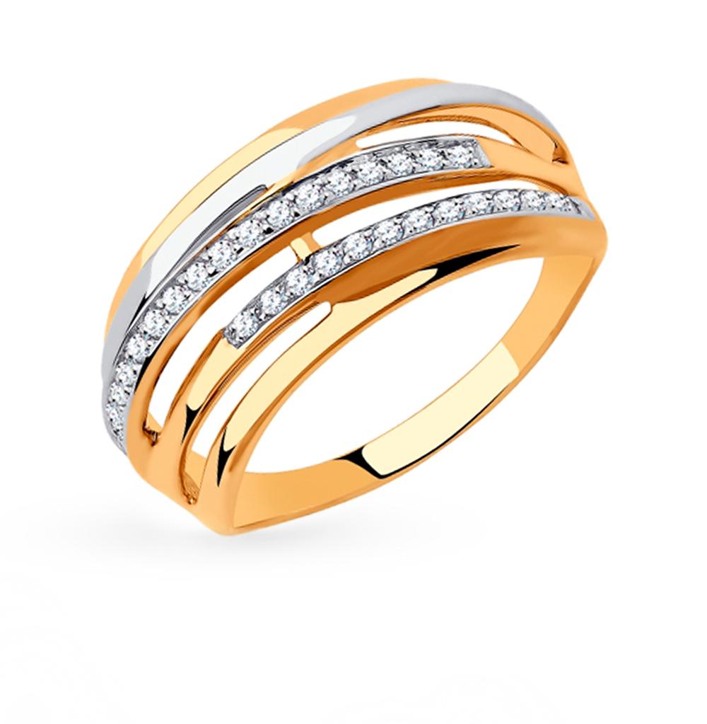 Фото «Золотое кольцо с фианитами SOKOLOV 018306»