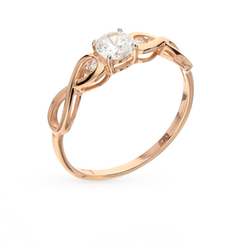 золотое кольцо с фианитами SOKOLOV 017154*