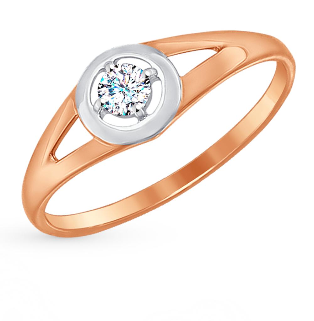 Золотое кольцо с фианитами SOKOLOV 017202* в Екатеринбурге