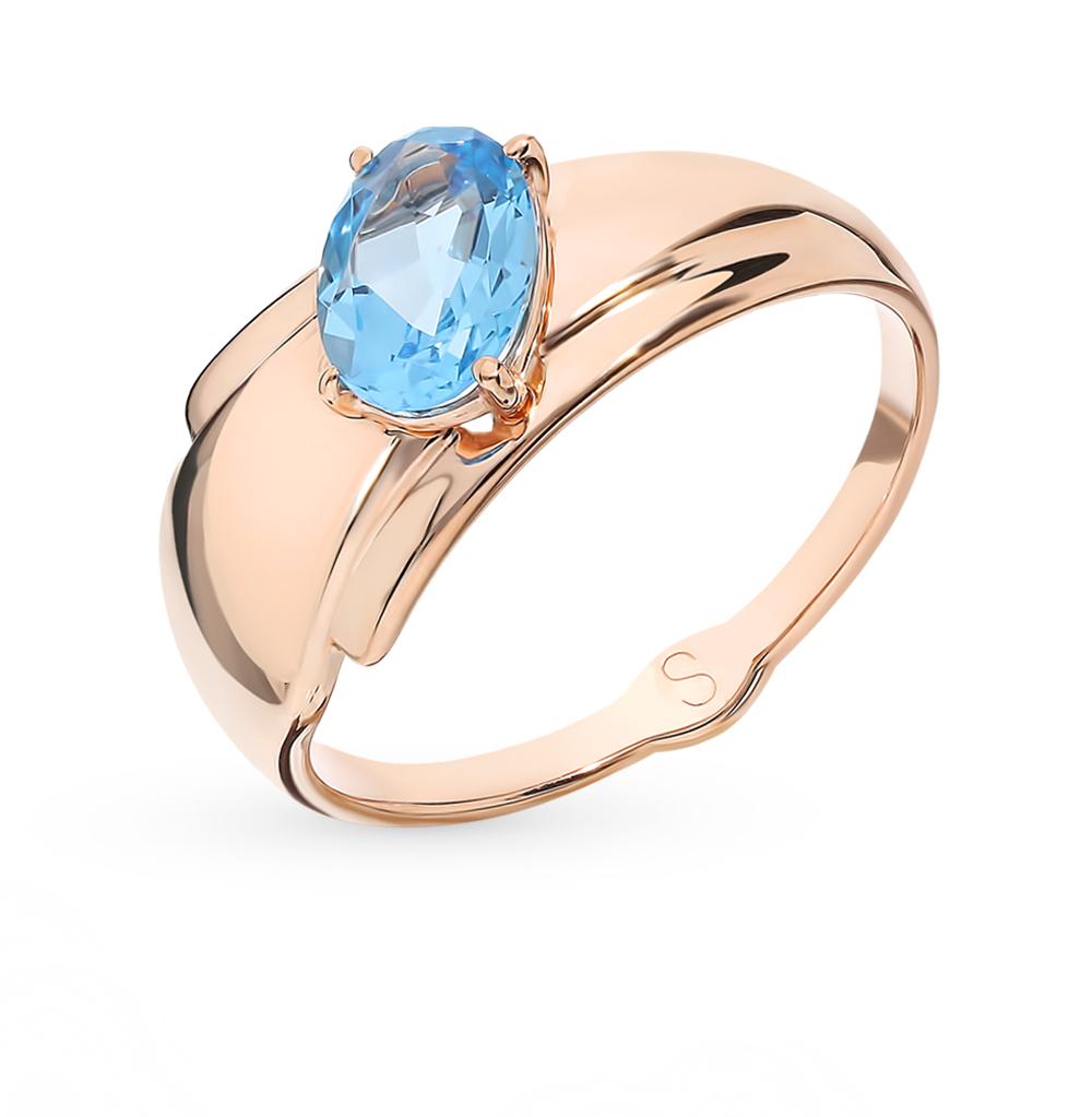 Фото «Золотое кольцо с топазом SOKOLOV 715533*»