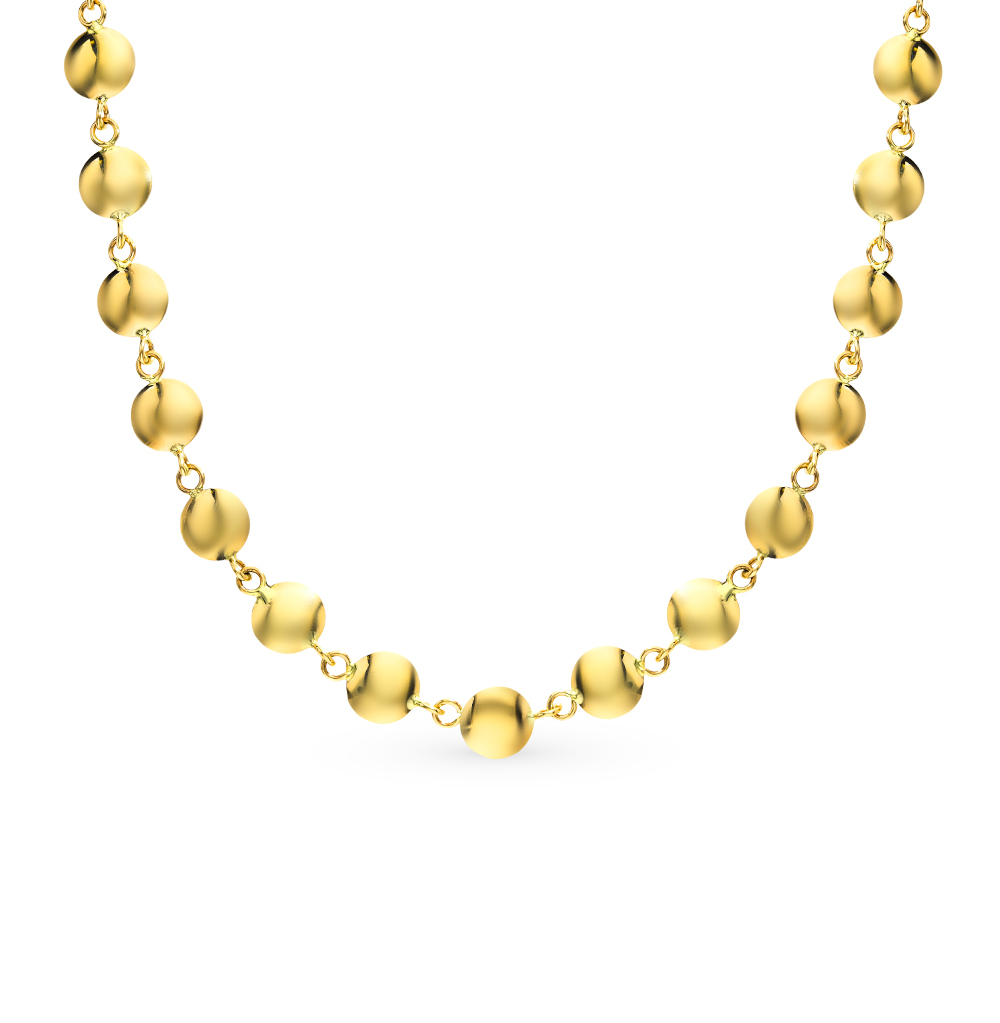 золотое шейное украшение