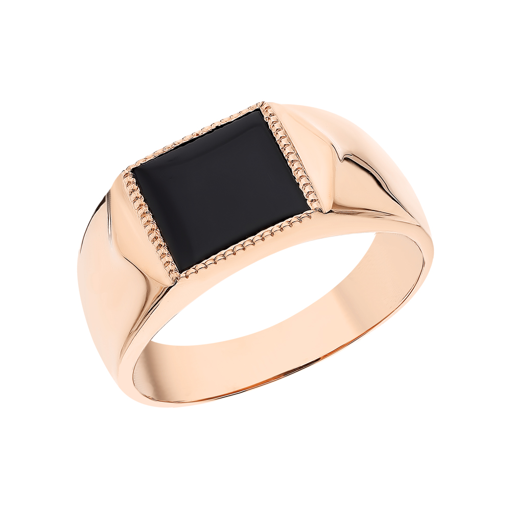 Золотое кольцо с агатом в Екатеринбурге