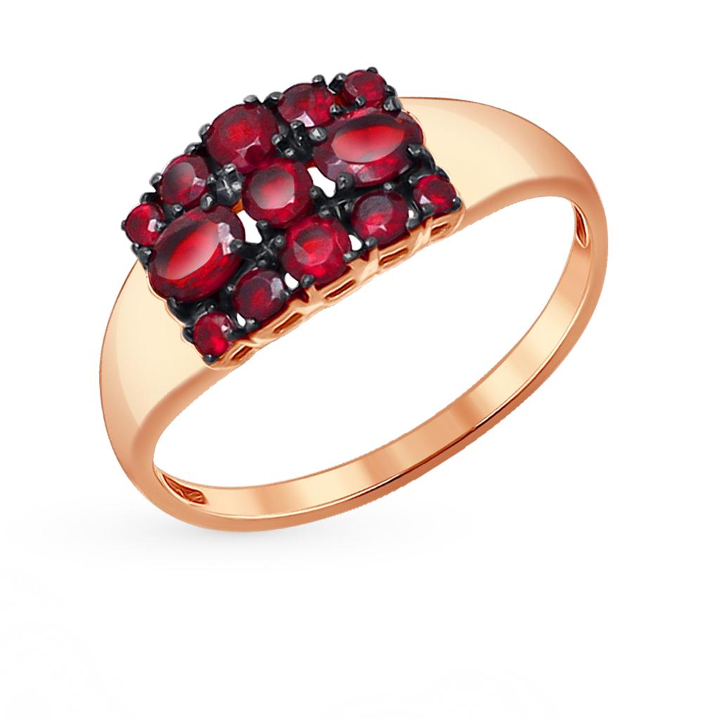 Фото «Золотое кольцо с гранатом SOKOLOV 714049*»