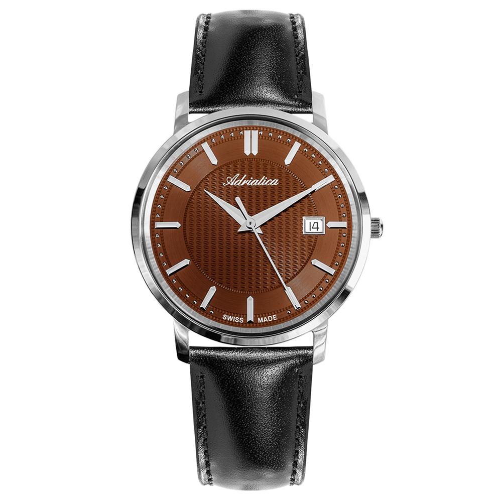 Фото «Мужские часы A1277.521GQ на кожаном ремешке с сапфировым стеклом»