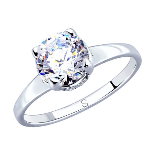 Фото «Серебряное кольцо с фианитами SOKOLOV 94012811»