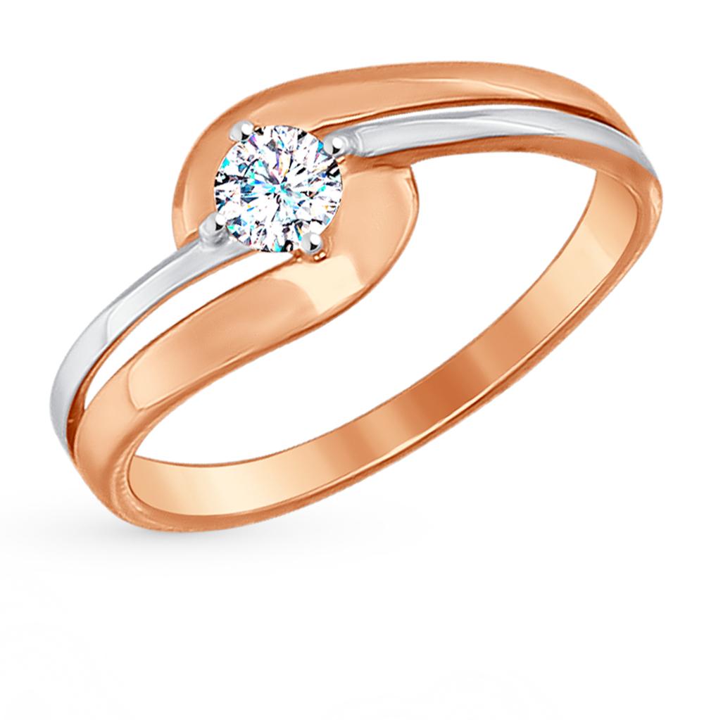 Фото «Золотое кольцо с фианитами SOKOLOV 017200*»