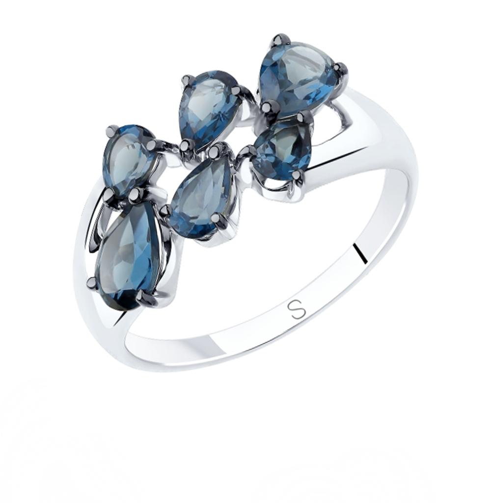 Фото «Серебряное кольцо с топазами SOKOLOV 92011820»