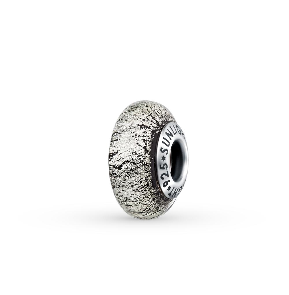 Фото «серебряная подвеска - шарм с со стеклом»