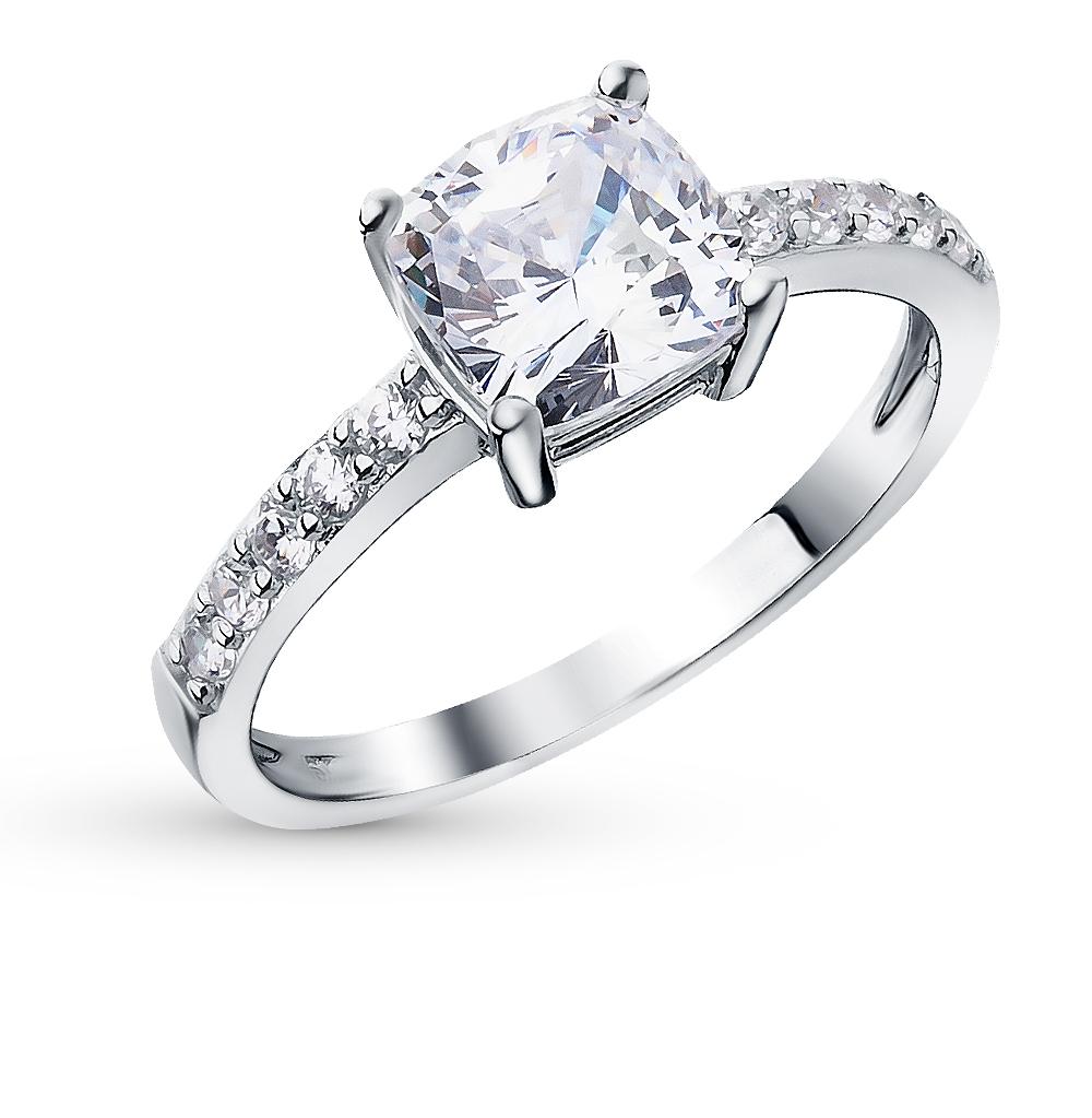 Серебряное кольцо с фианитами SUNLIGHT  белое серебро 925 пробы ... 00a6b9f93e6b1